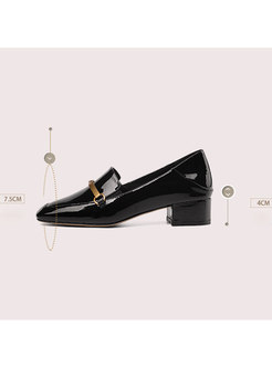 Fashion Spring/fall Square Toe Chunky Heel Shoes