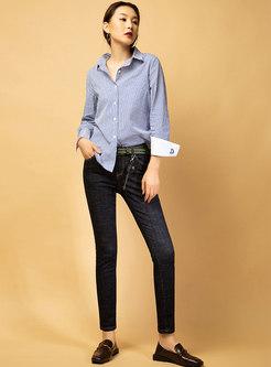 Stylish Denim Elastic Slim Pencil Pants