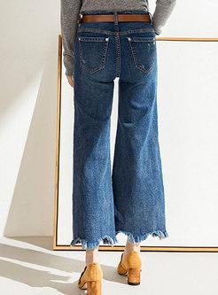 Chic Denim Rough Selvedge Flare Pants