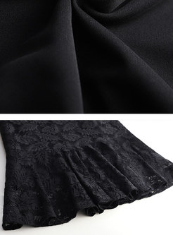 Elegant Black Sexy Lace Mermaid Sheath Skirt