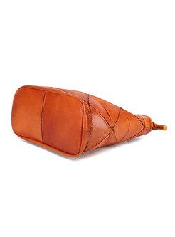 Brief Vintage Slit Zippered Tote & Top Handle Bag