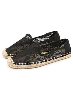 Black Lace Fisherman Spring/Fall shoes