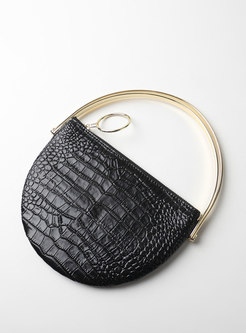 Chic Cowhide Leather Zipper Chain Crossbody Bag