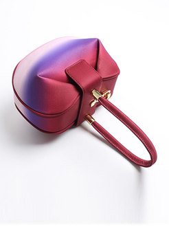 Vintage Color-blocked Dumping Shape Top Handle Bag