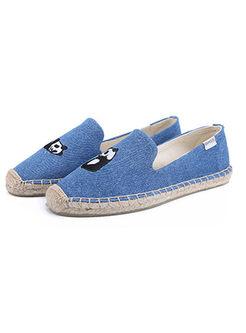Stylish Panda Embroidered Flat Shoes
