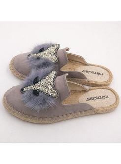 Fashion Animal Pattern Fisherman Slippers