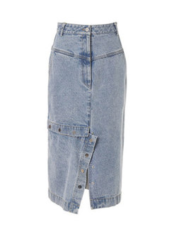 Chic Denim High Waist Asymmetric Skirt