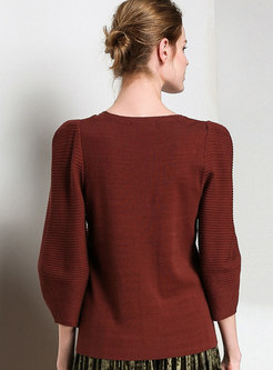 All-matched Lantern Sleeve Loose Sweater