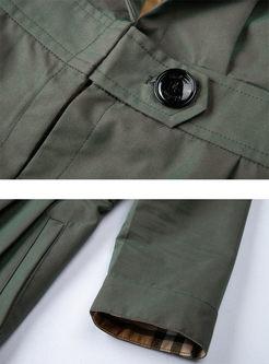Long Sleeve Waist Slim A Line Trench Coat