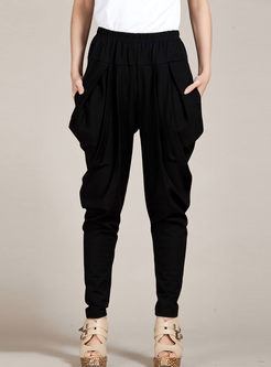 Fashion High Waist Loose Harem Pants