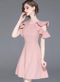 Sweet Falbala Off Shoulder Skater Dress