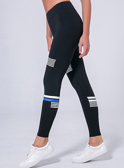 Stylish Color-blocked Elastic Sheath Yoga Pants
