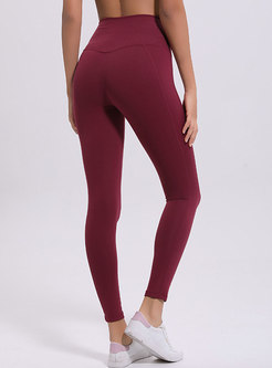 Pure Color High Waist Slim Yoga Pants