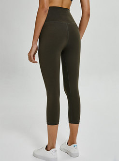 Pure Color Dry Fast Elastic Yoga Pants