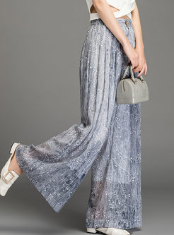 Bohemian High Waisted Print Wide Leg Pants