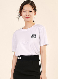 Brief Geometric All-matched Daily T-shirt