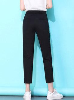Casual Elastic Waist Slim Pencil Pants