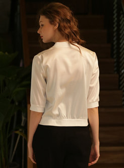 Brief Half Sleeve Stand Collar Sunscreen Coat