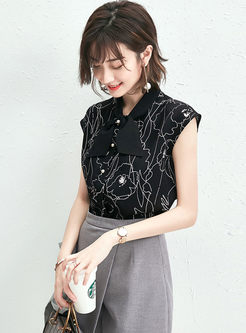 Casual Loose Sleeveless Chiffon Blouse