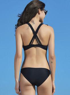 Sexy Bandeau Tassel Beaded Bikini