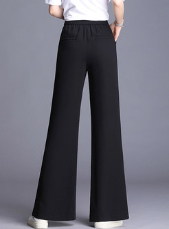 Fashion Splicing Casual Loose Flare Pants