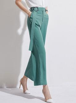 Fashion High Waist Pure Color Wide Leg Pants