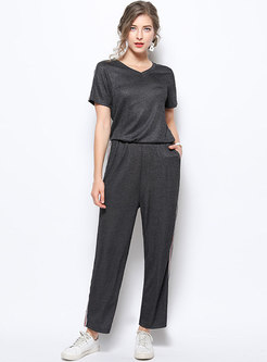 All-matched Loose Plus-size Two-piece Pants Set