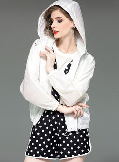 Casual Solid Color Long Sleeve Short Coat