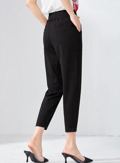 Casual Elastic Waist Slim Harem Pants