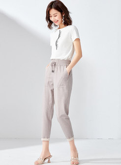 Casual High Waist Slim Harem Pants