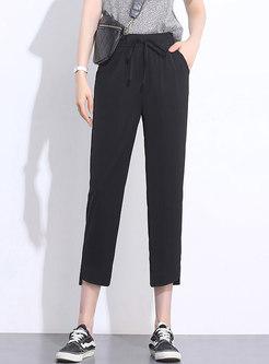 High Waist Slim Casual Harem Pants