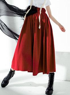 Chic Mesh Splicing Elastic Waist Suspender Skirt