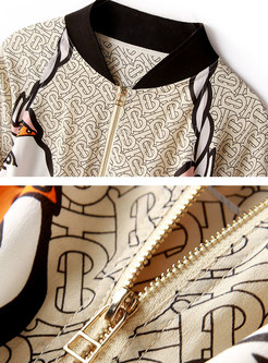 Stylish Print Silk Animal Print Thin Coat