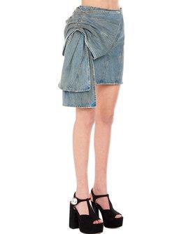 Chic Denim Bowknot Sheath Mini Skirt