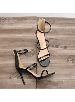 Fashion Round Head High Heel Sandals