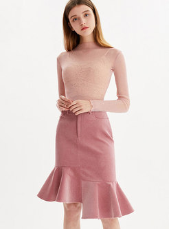 Fashion Asymmetric Slim Mermaid Sheath Skirt