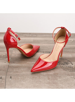 Chic Pointed Toe Breathable Thin Heel Shoes
