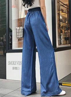 Fashion Summer Tied Street Slim Wide Leg Pants