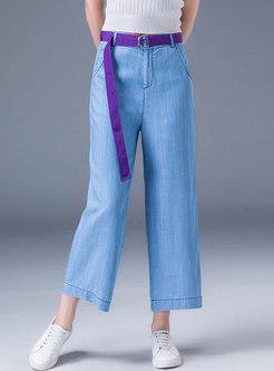 High Waist Loose Slim Casual Wide Leg Pants