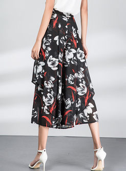 Bohemian Print Loose High Waist Wide Leg Pants