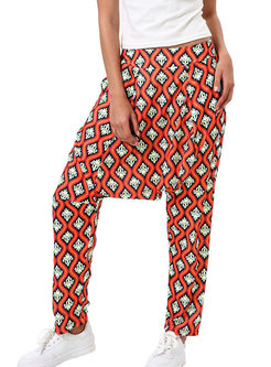 Fashion Print Plus Size Long Harem Pants