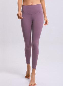 Solid Color High Waist Sheath Yoga Pants