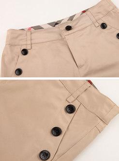 Casual High Waist Slim Shorts