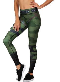 Trendy Color-blocked Print Slim Yoga Pants