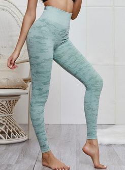 Casual High Waist Camouflage knitting Yoga Pants