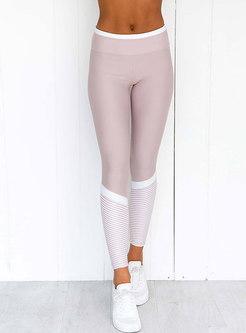 Chic Breathable Sheath Splicing Slim Yoga Suit