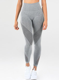 Mesh Splicing High Waist Tight Yoga Pants