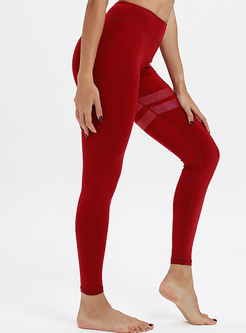 Color-blocked Scoop High Waist Breathable Tracksuit