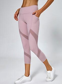 Fashion Mesh Splicing Tight Yoga Pants