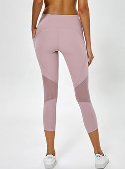 Fashion Mesh Splicing Tight Yoga Pants